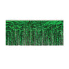 1-Ply Metallic Fringe Drape - green