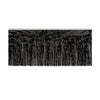 Packaged 1-Ply Fire Resistant Metallic Fringe Drape - black