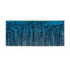Packaged 1-Ply Fire Resistant Metallic Fringe Drape - blue