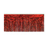 1-Ply Fire Resistant Metallic Fringe Drape - red