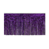 1-Ply Fire Resistant Metallic Table Skirting - purple