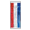 1-Ply Metallic Table Skirting - red, silver, blue