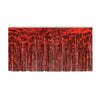Packaged 1-Ply Fire Resistant Metallic Table Skirting - red