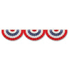 Patriotic Party Supplies - Jointed RWB Bunting Cutout