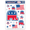 Patrioctic Decorations: Republican Party Peel 'N Place Clings