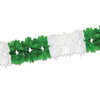 Pageant Garland - green & white
