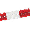 Pageant Garland - red & white