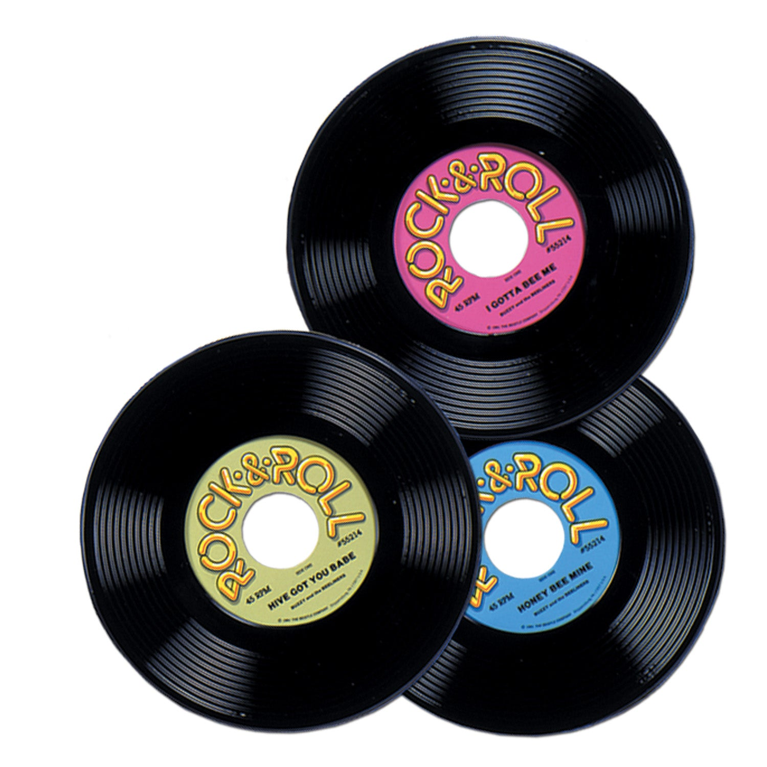 36 Case Beistle Rock And Roll Party Plastic Records Bulk Party