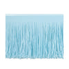 Party Decorations - Tissue Fringe Drape - lt blue