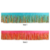 Party Decorations - Tissue Fringe Drape - multi-color