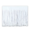 Party Decorations - Tissue Fringe Drape - white