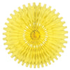 Party Decorations - Tissue Fan - canary