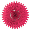 Tissue Fan Cerise, party supplies, decorations, The Beistle Company, General Occasion, Bulk, General Party Decorations, Party Tissue Fans