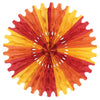 Tissue Fan - golden-yellow, orange, red
