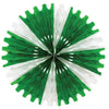 St. Patricks Day Tissue Fan - green & white