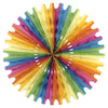 Party Decorations - Tissue Fan - multi-color