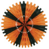 Halloween Party Supplies - Tissue Fan - orange & black