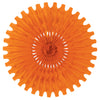 Party Decorations - Tissue Fan - orange