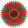 Christmas Tissue Fan - red & green Decoration