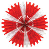 Valentines Day Party Supplies - Tissue Fan - red & white