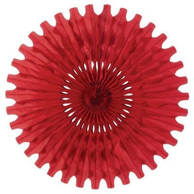 Party Decorations - Tissue Fan - red