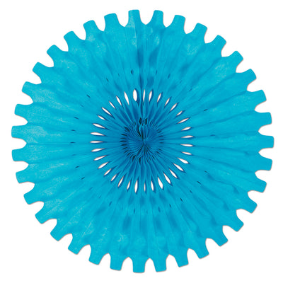 Tissue Fan Turquoise, party supplies, decorations, The Beistle Company, General Occasion, Bulk, General Party Decorations, Party Tissue Fans
