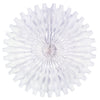 Party Decorations - Tissue Fan - white