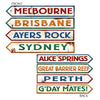 Party Supplies - Australian Street Sign Cutouts