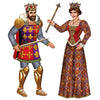 Mardi Gras Party Supplies - Jointed Royal King & Queen