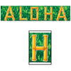 Luau Party Supplies - Fire Resistant Aloha Banner
