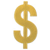 Casino Party Supplies - Foil Dollar Sign Silhouette - gold