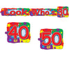 Beistle Look Who's (30/40/50) Streamer (Pack of 12) - Over the Hill Party Supplies