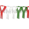 Drop Fringe Garland - red, white, green