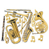 Gold Foil Musical Instrument Cutouts