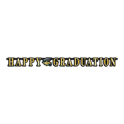 Happy Graduation Streamer (Pack of 12)