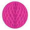 Party Decorations - Tissue Ball - cerise