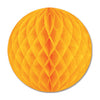 Party Decorations - Tissue Ball - golden-yellow