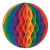 Party Decorations - Tissue Ball - rainbow