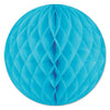 Tissue Ball Turquoise, party supplies, decorations, The Beistle Company, General Occasion, Bulk, General Party Decorations, Tissue Balls Decoration, 12 Inch Tissue Ball Decorations