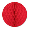Party Decorations - Tissue Ball - red