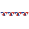 Patriotic Party Supplies - Red, White & Blue Fan Garland