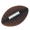 Football Party Supplies - Tissue Football with Laces - brown