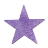 Embossed Die-Cut Foil Star purple