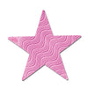 Birthday Party Supplies - Embossed Die-Cut Foil Star pink