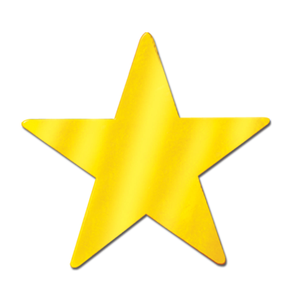 Awards Night Party Supplies - Die-Cut Foil Star - gold