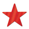 Party Decorations - Die-Cut Foil Star - red