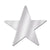 Awards Night Decoration Die-Cut Foil Star silver (36ct)