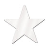 Party Decorations - Die-Cut Foil Star - white