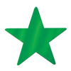 Party Decorations - Die-Cut Foil Star - green