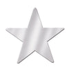 Awards Night Party Supplies - Die-Cut Foil Star - silver